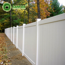 Temporary Privacy Scallopped Picket Vinyl Fencing Plastic Garden Fence With England Fence Post Cap Vinyl Picket